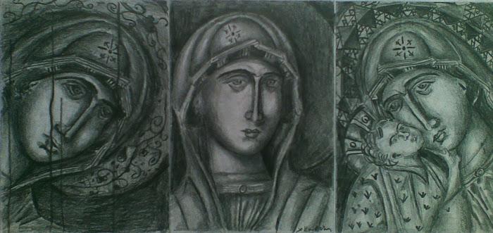 Η Μαρια με το Βρεφος [ Τριπτυχο ]