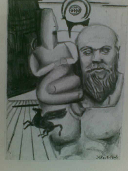 Σωκρατης / Κυκλαδικο ειδωλιο  paintings