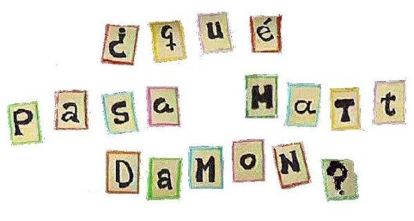 ¿Qué pasa Matt Damon?