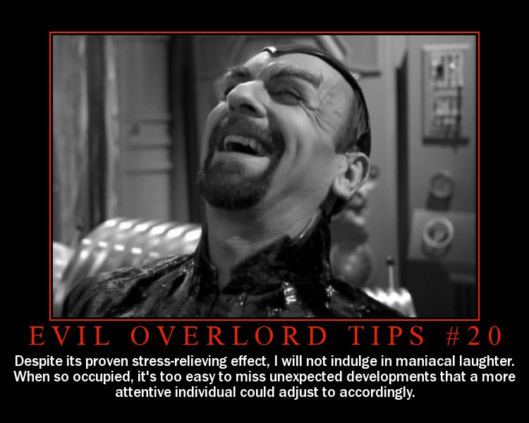 Evil genius laugh
