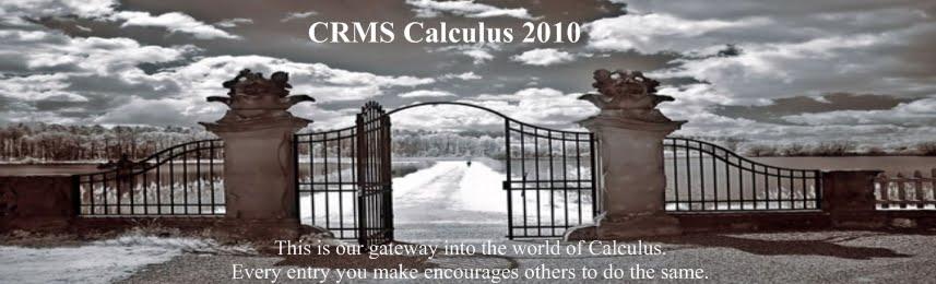 CRMS Calculus 2010