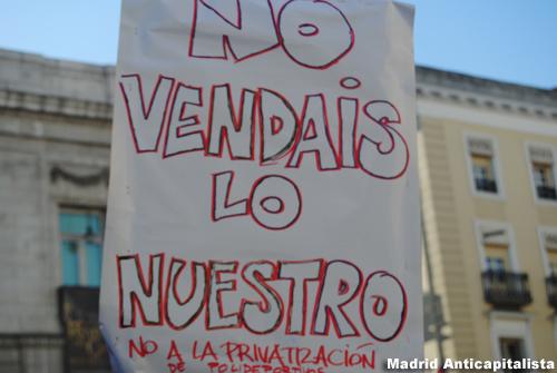[FOTOS] Huelga y concentración de los trabajadores de las instalaciones deportivas municipales de Madrid 1