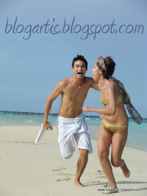 Bunga Citra Lestari Sinclair Bikini Honeymoon Photos