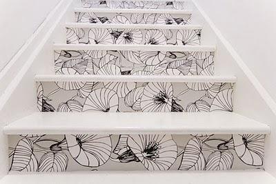 Papel pintado escaleras