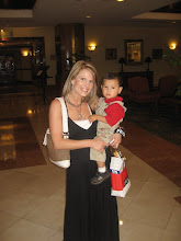 Mateo & Mommy in the lobby