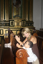 Mateo & I praying at one of the churches in Antigua