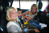 This moment in the car was surreal!! All of my babies together in the backseat!!