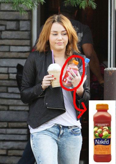 Miley Cyrus got naked yesterday.