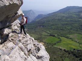 via alpinistica su Timpa di Cassano. Comune di Civita (çifti)