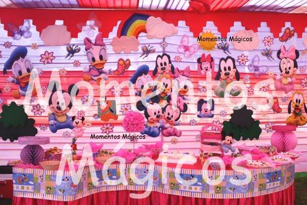 Fotos de decoración fiestas infantiles de Mickey bebé - Imagui