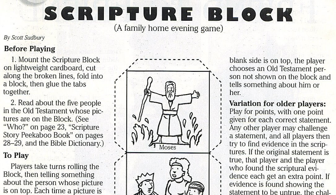 Family Home Evening Friends 8th Article Of Faith