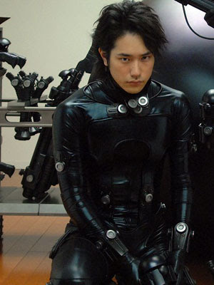 The amazing Gantz suit in display.