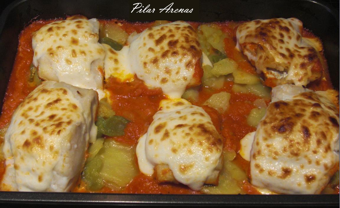 Bacalao con tomate patatas panaderas y lactonesa for Cocina thermomix facil