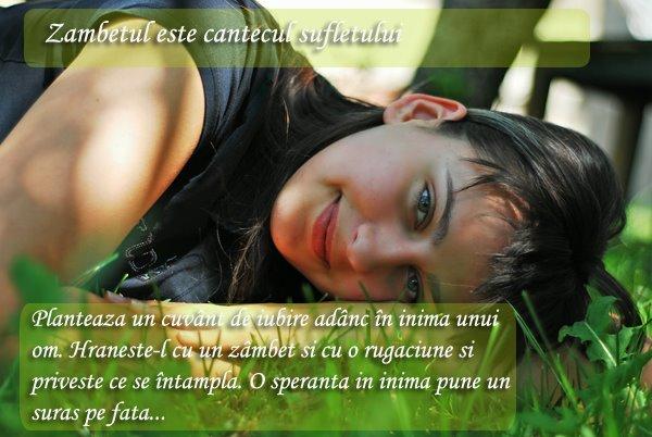 Zambetul este cantecul sufletului