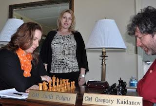 Le match entre Judith Polgar et Gregory Kaidanov © site officiel