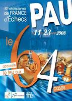 l'affiche officielle du championnat de France d'échecs 2008