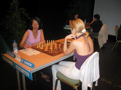 Roza Lallemand et Sophie Milliet au Championnat de France d'échecs 2008 - photo Chess & Strategy