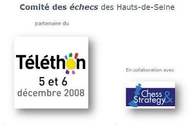 les sites d'échecs soutiennent le Téléthon