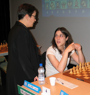 Silvia Collas et Laurie Delorme au championnat de France d'échecs © Chess & Strategy