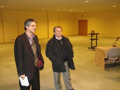 Laurent Verat, Directeur général de la Fédération Française des Echecs en visite au Palais Beaumont à Pau - photo FFE