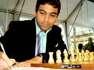 Anand, champion du monde d'échecs 2008 - photo Chessbase