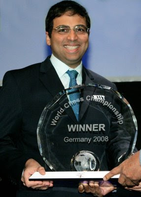 Anand, champion du monde d'échecs 2008 - photo Susan Polgar