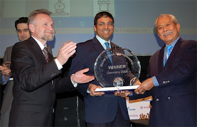 Anand, champion du monde d'échecs - photo Chessbase