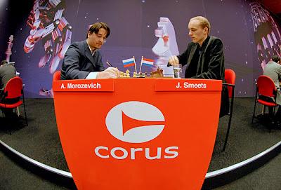 Alexander Morozevich face à Jan Smeets - cette magnifique photo est signée Frits Agterdenbos de ChessVista