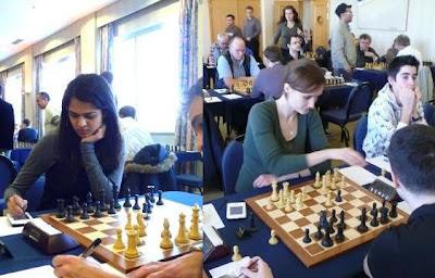 Tania Sachdev et Viktorija Cmilyte © Chess & Strategy