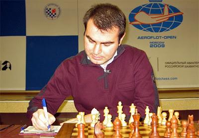 Shakhriyar Mamedyarov, a quitté l'édition 2009 de l'Open d'échecs Aeroflot - photo Misha Savinov