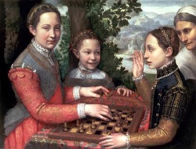 Jeu d'échecs, 1555. Huile sur toile, 72 × 97 cm. Museum Narodowe, Poznań (Pologne)