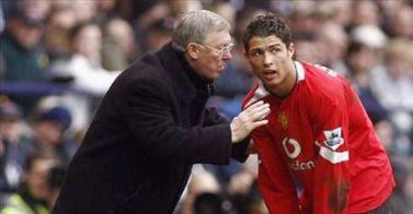 Alex Ferguson et Cristiano Ronaldo © Eurosport