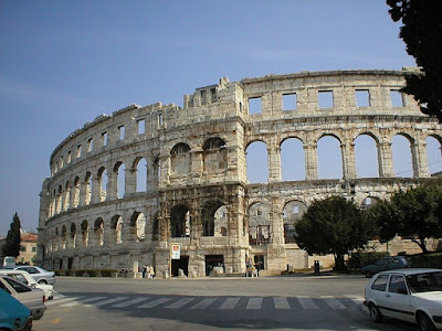 L'amphitheâtre de Pula, dans la province d'Istria en Croatie