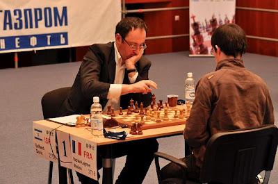 Maxime Vachier-Lagrave face à l'israélien Boris Gelfand © Site Officiel