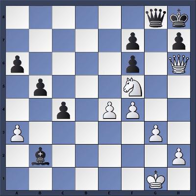 Les Blancs jouent et matent en 8 coups - Niveau Moyen