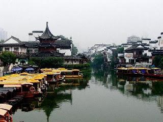 Echecs à Nanjing : Les canaux de la ville