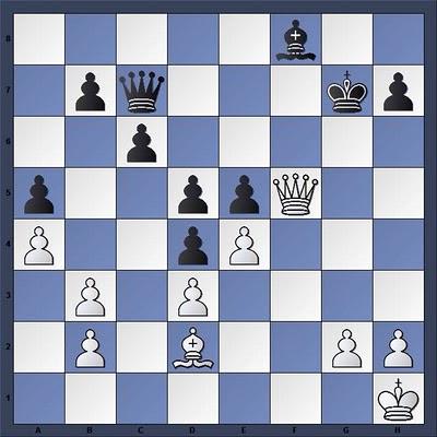 Echecs & Tactique : Les Blancs gagnent en quatre coups - Niveau Moyen