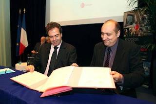 Echecs & Ecole : Luc Chatel et Jean-Claude Moingt © Philippe Devernay/MENJVA