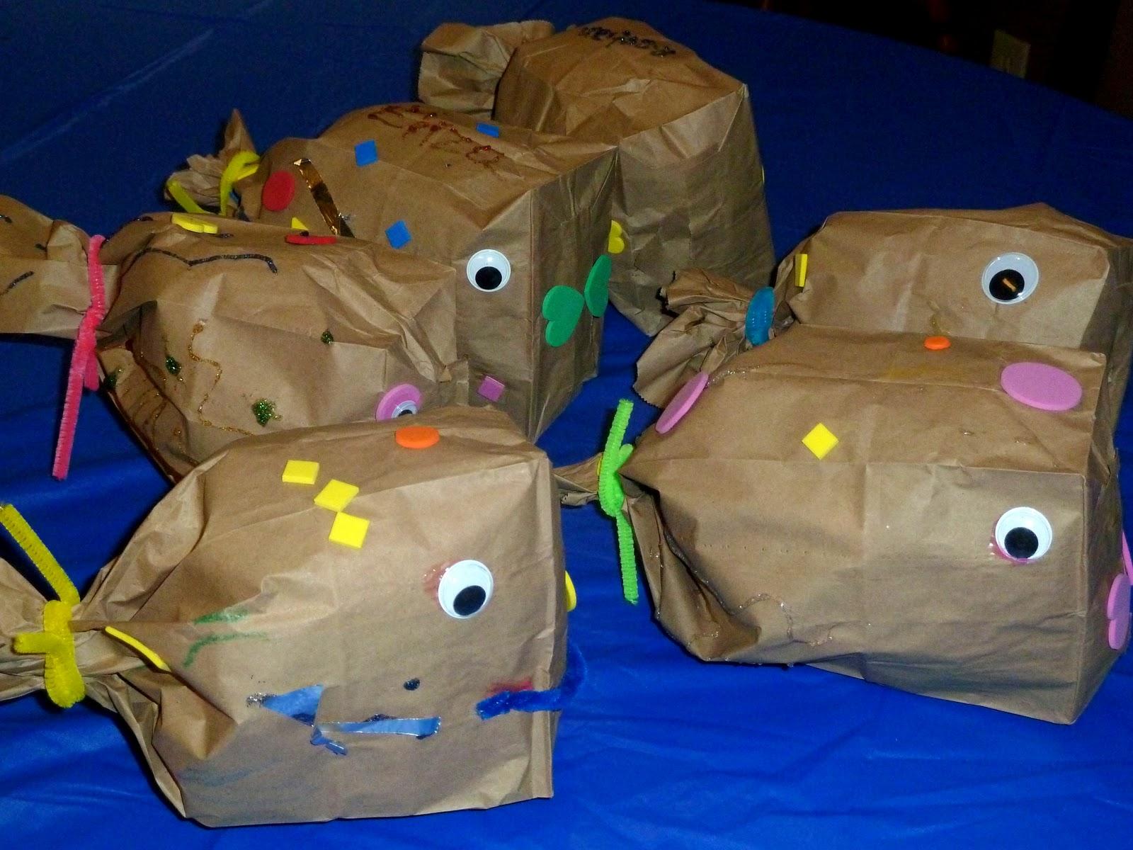Paper bag activity - Sunday September 12 2010