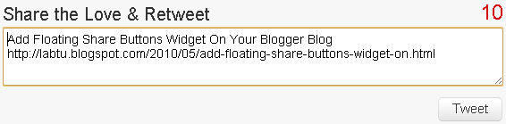 Tweet Box to Blogger