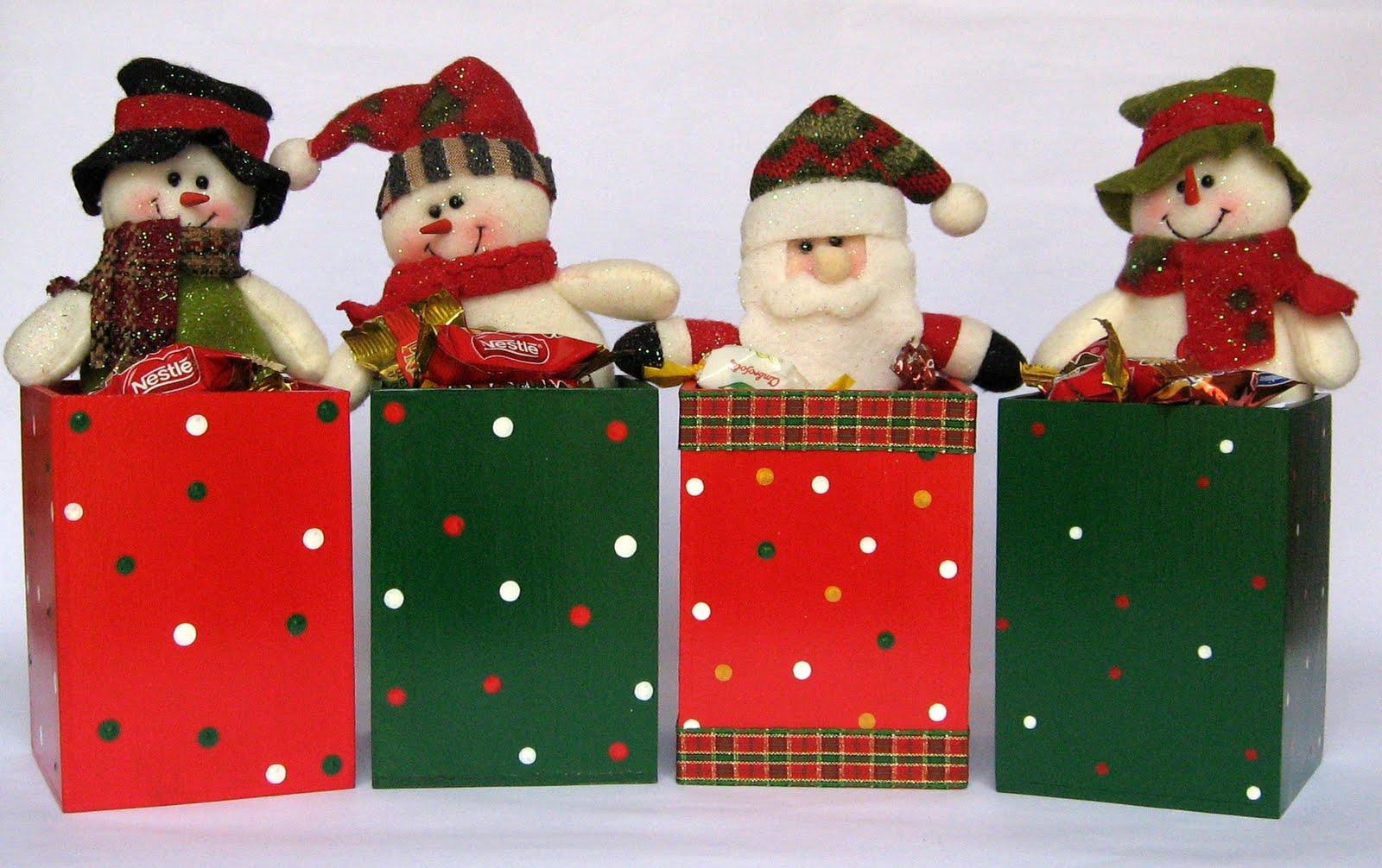 Detalles navide os - Cajas con motivos navidenos ...