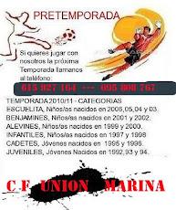 EL CF UNION MARINA TE ANIMA A JUGAR CON NOSOTROS LA PROXIMA TEMPORADA 695 808 767