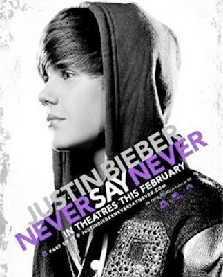 justin bieber never say never poster. justin bieber on stage never