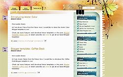 blogger templates, floral blogger templates