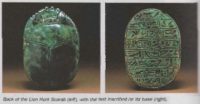 Ancient Egypt History: The Commemorative Scarabs of Amenhotep III ...