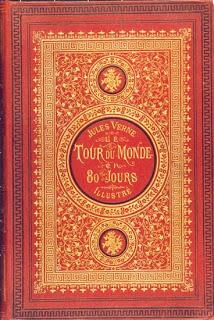 غلاف أول اصدار لرواية حول العالم في ثمانين يوماً