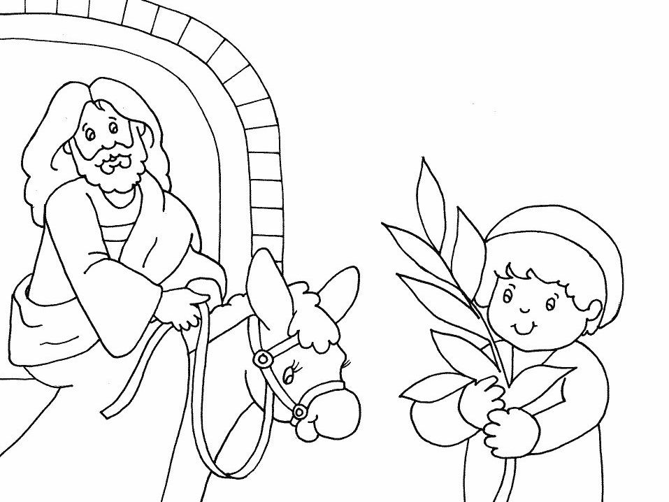 palm sunday coloring pages -
