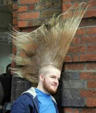 funny hair cut