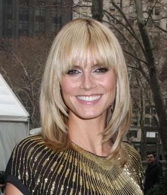 Heidi Klum Medium Length Bob Hairstyles 2009