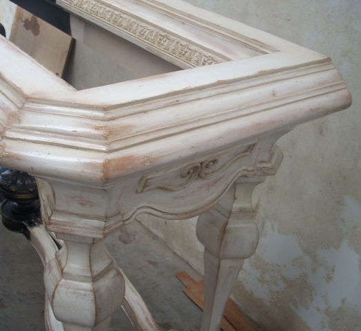 wisno wood furniture finishing: Antique solid color
